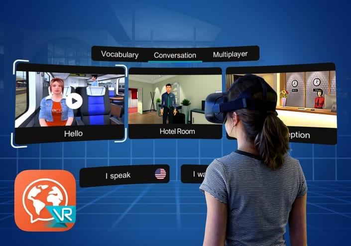 Aplikace Mondly VR