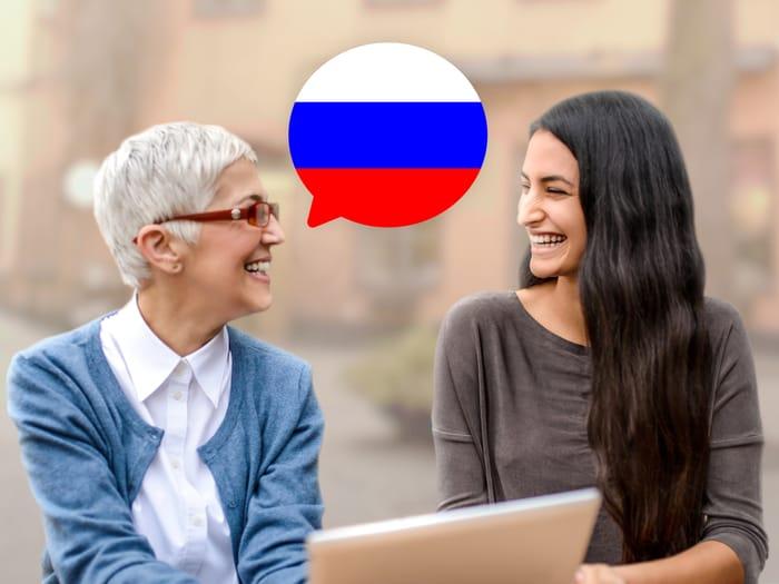 التحدث بالروسية
