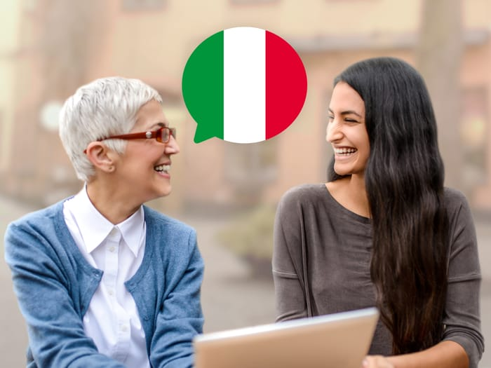 التحدث بالإيطالية