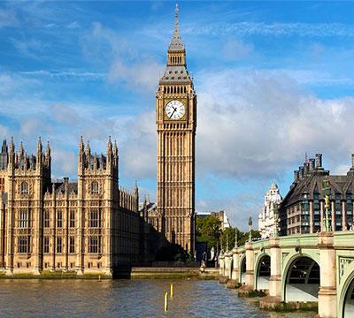 Изучайте английский онлайн, чтобы посетить Биг Бен в Лондоне (Англия)