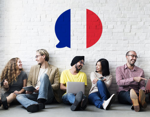 Image showing people learning French
