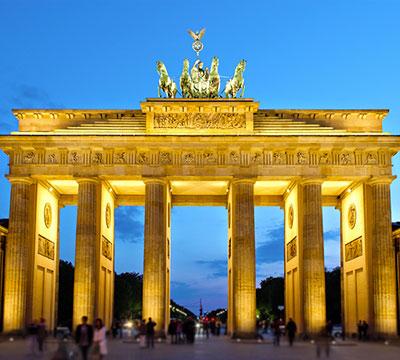 Impara il tedesco online per visitare la Porta di Brandeburgo di Berlino
