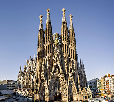 Image showing Sagrada Familia from Barcelona, Spain