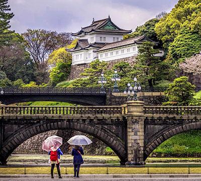 Ucz się japońskiego, aby zobaczyć Pałac Cesarski w Tokio w Japonii