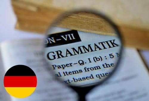 Image showing how you can improve your German grammar online with Mondly