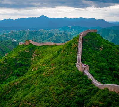 Image showing Great Wall of China, the famous Chinese attraction