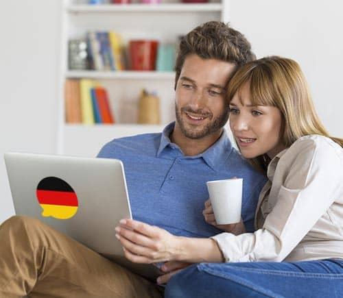 Imagen que muestra a gente aprendiendo frases y oraciones comunes en alemán