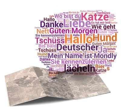 Imagen que muestra las frases y oraciones en alemán que puedes aprender con Mondly