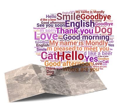 Imagen que muestra las frases y oraciones en inglés que puedes aprender con Mondly