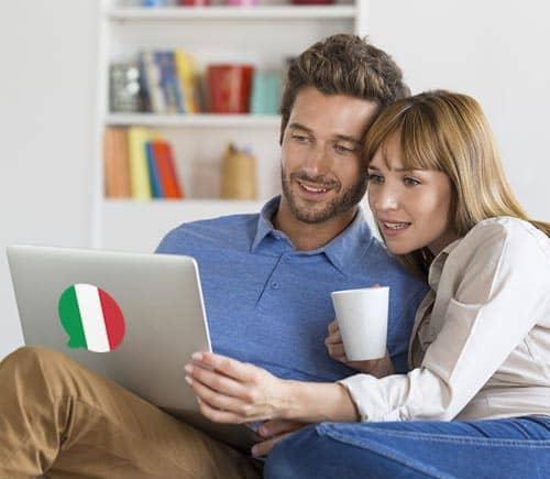 Imagen que muestra a gente aprendiendo frases y oraciones comunes en italiano