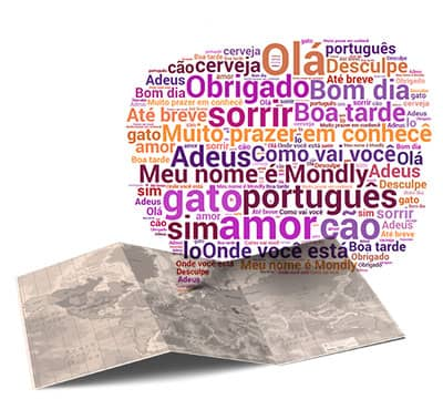 Image showing the basic Portuguese phrases and Portuguese sentences you can learn with Mondly