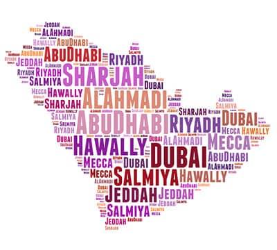Imagen que muestra las palabras árabes que puedes aprender con Mondly