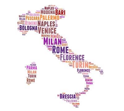 Palabras en italiano y palabras italianas que puedes aprender con Mondly