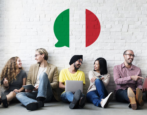 Image showing people learning Italian