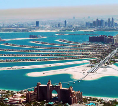Image showing the Palm Islands in Dubai