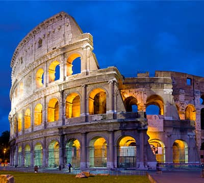 Image showing The Colosseum, the famous Italian attraction