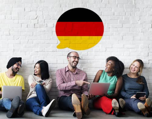 Image showing people having an German class after using Mondly