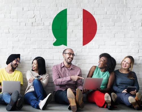 Image showing people having an Italian class after using Mondly