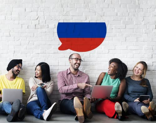 Image showing people having an Russian class after using Mondly