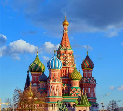 Image showing Saint Basil's Cathedral, the famous Russian attraction