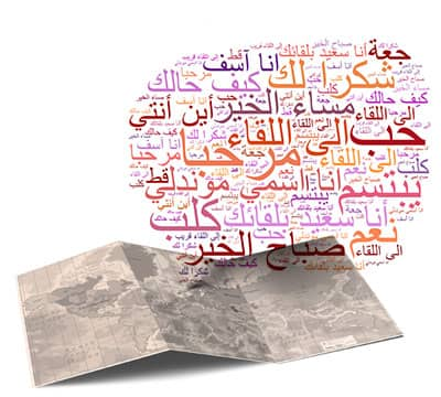 Image showing the basic Arabic phrases and Arabic sentences you can learn with Mondly