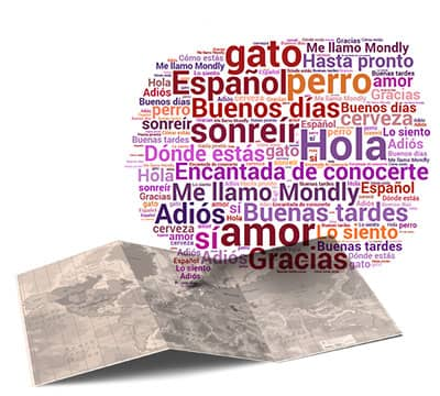 Image showing the basic Spanish phrases and Spanish sentences you can learn with Mondly