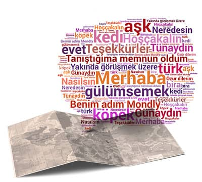 Image showing the basic Turkish phrases and Turkish sentences you can learn with Mondly