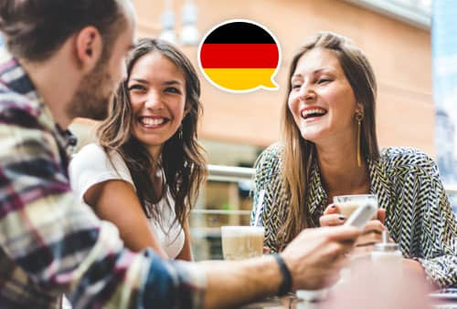 Image showing people speaking German with Mondly