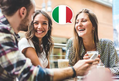 Image showing people speaking Italian with Mondly
