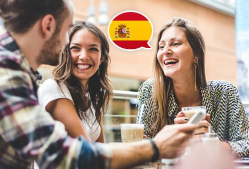 Image showing people speaking Spanish with Mondly