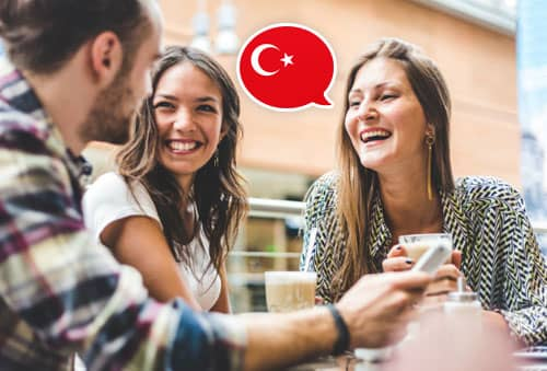 Image showing people speaking Turkish with Mondly