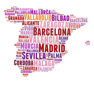 Image showing the Spanish words you can learn with Mondly